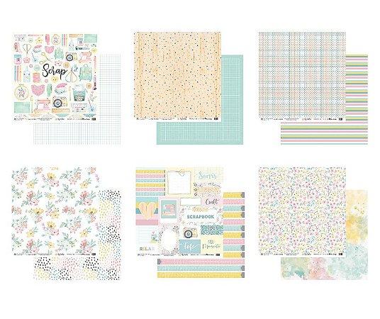 Kit 6 papéis 30,5 x 30,5 - My Crafts - My Memories Crafts