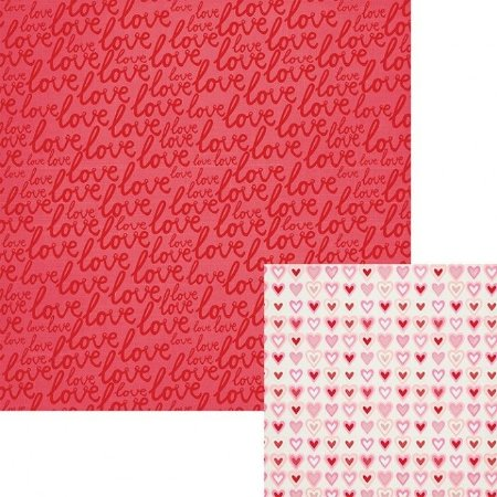 Papel para scrapbook - 30x30 Crush - Lucky in love - We R