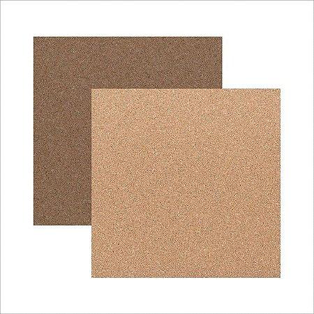 Papel para scrapbook - Texturas - Cortiça - Toke e Crie