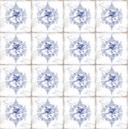 Papel para scrapbook - 30x30 Azulejo Português 2 - Arte Fácil