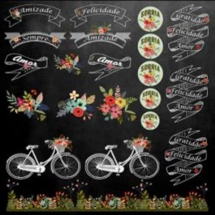 Papel para scrapbook - 30x30 Chalkboard 3- Arte Fácil