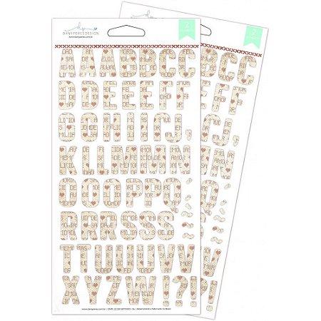 Alfabeto chipboard Homemade Christmas - Natal - Dany Peres