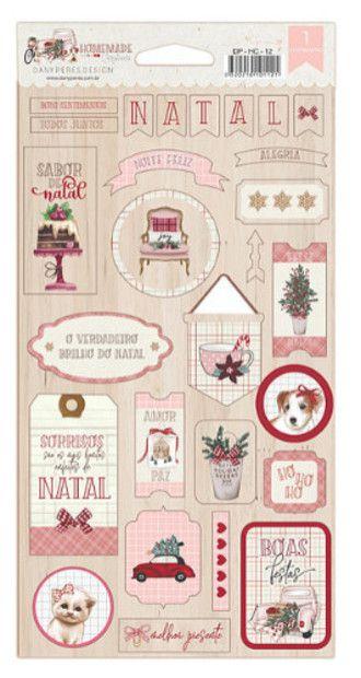 Cartela de chipboard Homemade Christmas - Natal - Dany Peres