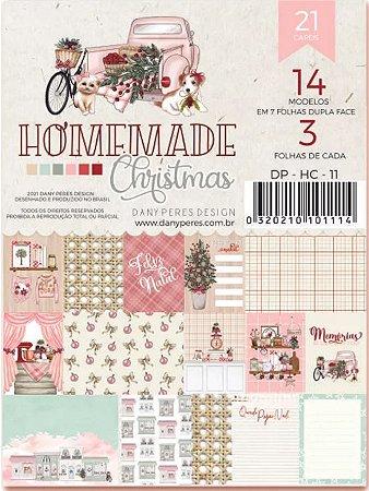Bloco de cards Homemade Christmas - Natal - Dany Peres