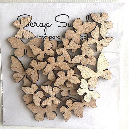 Apliques de Madeirinha Borboletas - My Scrap Supplies