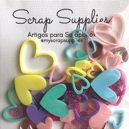 Apliques de acrílico Coração Candy - My Scrap Supplies