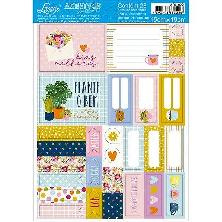 Cartela de adesivos Dias Melhores ADL-022 - Scrap Mimos - Litoarte