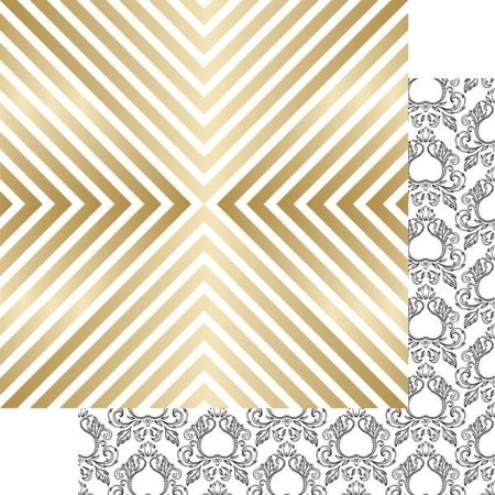 Papel Scrapbook - com FOIL dourado - Shine - Nine & Co - Teresa Collins