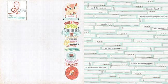 Papel Scrapbook - Our Travels - New Experiences- Webster
