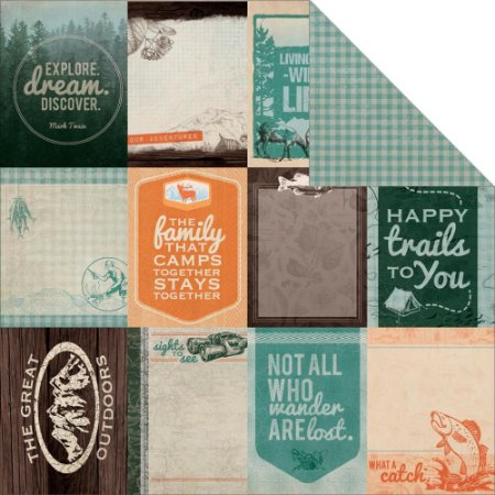 Papel Scrapbook - Outdoor Trail - Swag - Kaiser Crafts