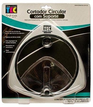 Cortador circular com suporte - Toke e Crie