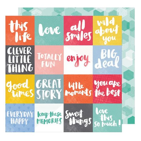 Papel Scrapbook - All Smiles  - American Crafts