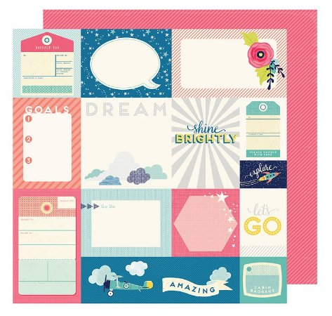 Papel Scrapbook - Odyssey  - American Crafts