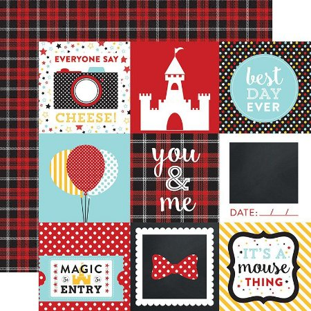 Papel scrapbook 4x4 Journaling Cards Magical Adventure Disney - Echo Park