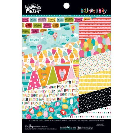 Bloco de papéis 20x15 Illustrates Faith - Deligth in his Day - Bella Blvd
