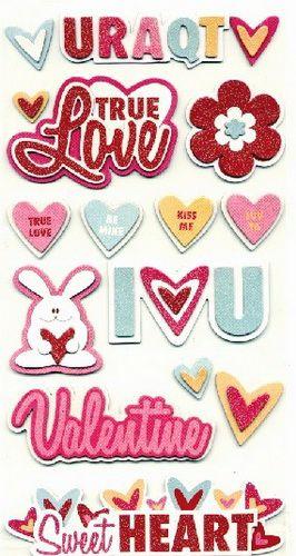 Adesivos chipboard Amor Heart Attack - We R