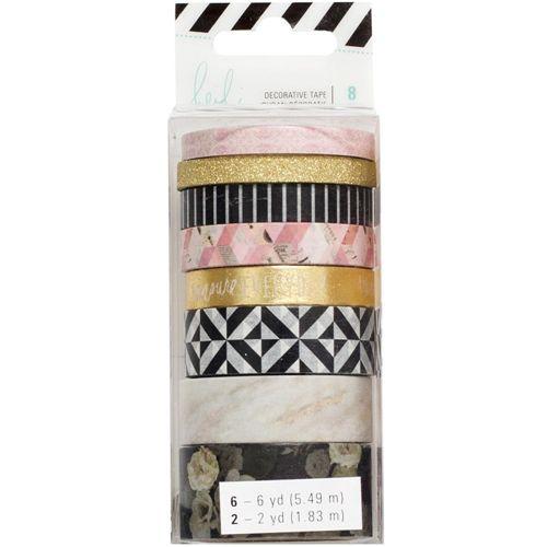 Kit de washi tape com 8 fitas - Heidi Swapp - American Crafts