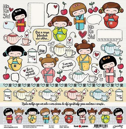 Papel de scrapbook Ban Cha - Love Japan - Goodies