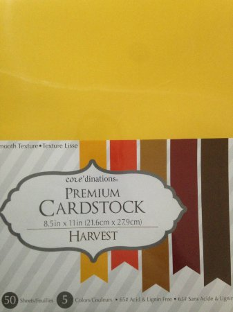 Bloco de papel cardstock A4 Harvest - Core dinations