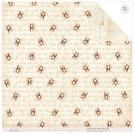 Papel scrapbook 30x30 Cartas para você - Shabby Baby - Dany Peres