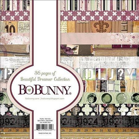 Bloco de papel para scrapbook 15x15 Beautiful Dreamer Collection - Bo Bunny