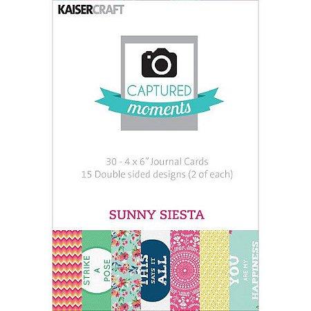 """Cards 3x4"""" (10 x 7,5cm) Sunny Siesta - Kaisercraft"""