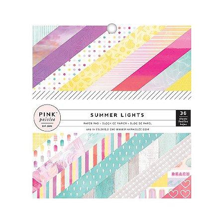 Bloco de papéis 15x15 Summer Lights Pink Paislee
