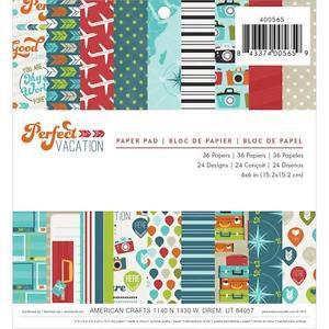 Bloco de papéis 15x15 Perfect Vacation American Crafts