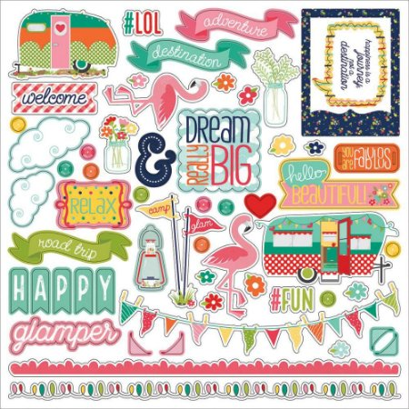 Adesivos 30x30 - Happy Glamper - Photoplay