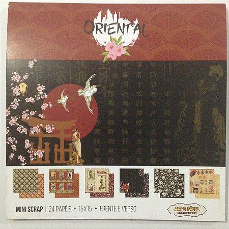 Bloco papel scrapbook 15x15 Oriental - Arte Fácil
