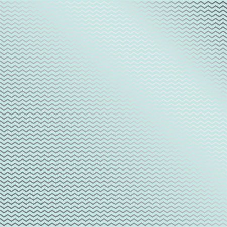 Papel Scrapbook - Metalizado - Chevron Azul / Verde água - Toke e Crie