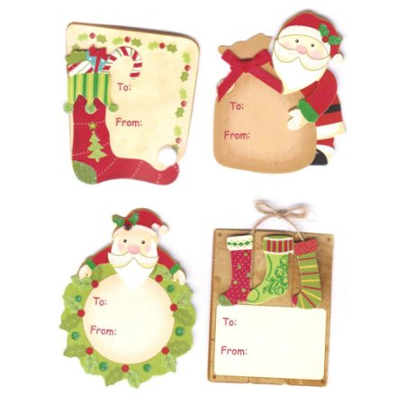Adesivos Lembranças de Natal - Meias - Toke e Crie