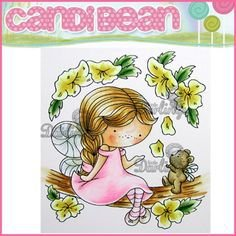 Carimbo de borracha Blossom Daisy - Candi Bean