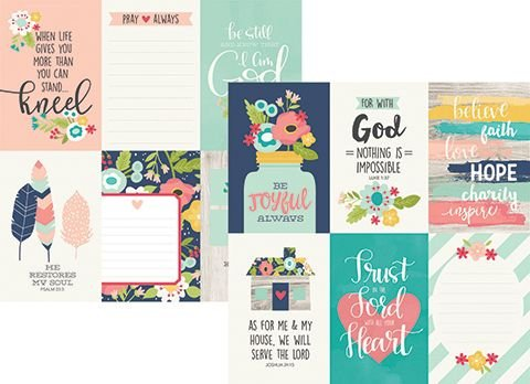 Papel Faith 4x6 Vertical Elements - Simple Stories