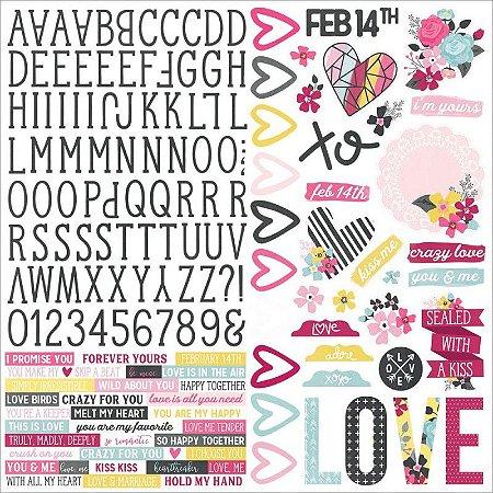 Adesivos 30x30 Love & Adore - Simple Stories