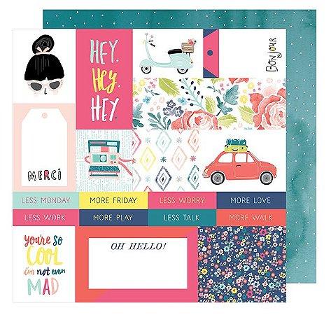 Papel de scrapbook Hey Hey Hey - Lovely Day - American Crafts