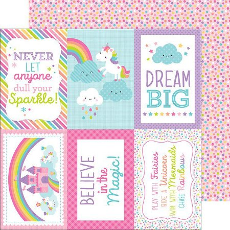 Papel Scrapbook - Doodlebug - Fairy Tales -  Fairy Fetty