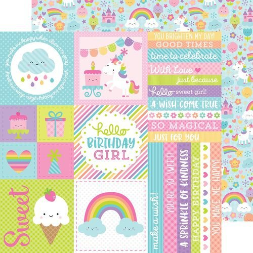Papel Scrapbook - Doodlebug - Fairy Tales - Fairy Tales