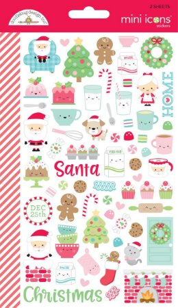 Adesivos Natal com 2 cartelas Milk & Cookies - Doodlebug