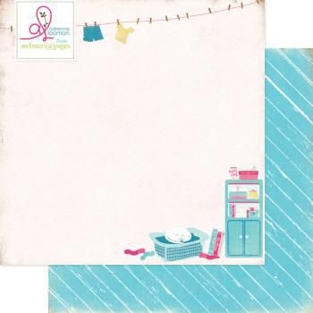 Papel Scrapbook - Laundry Day Webster Pages