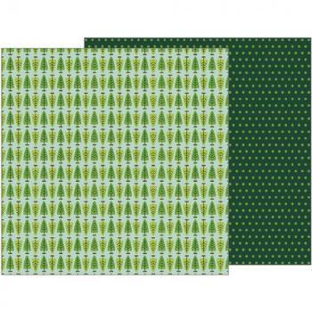 Papel para scrapbook  - Merry Merry - Fresh Cut Pines  - Peebles