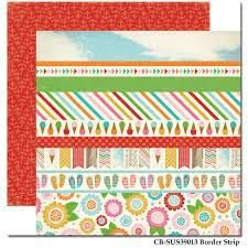 Papel Scrapbook - Border Strip - Sorvete - Carta Bella