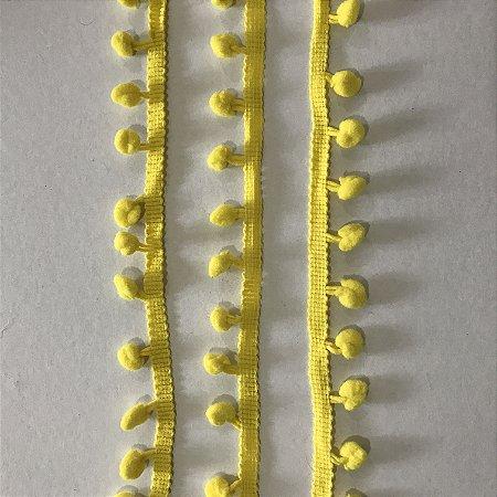 Fita pompom 8mm Amarelo - 1 METRO - Art & Montagem
