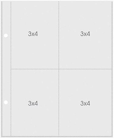 Refil para álbum Snap 15x20 com 4 divisórias - Simple Stories