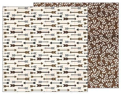 Papel Scrapbook 30x30 Dupla Face - Jen Hadfield Homemade - Arrows  - Pebbles