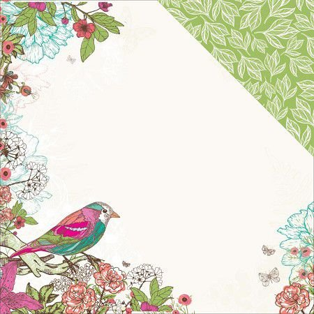 Papel Scrapbook 30x30 Dupla Face - QT  - Fly Free Collection Kaiser Craft