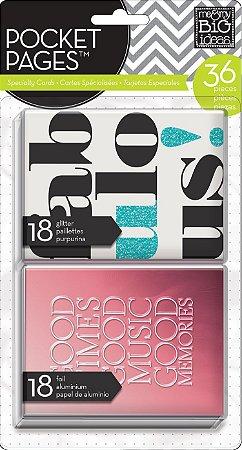 Kit de Cards com FOIL Fabulous 36 peças - MAMBI