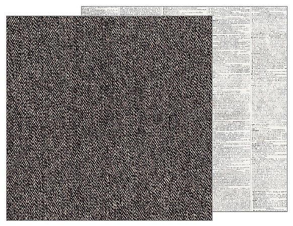 Papel Scrapbook 30x30 Dupla Face - Jen Hadfield Homemade - Tweed  - Pebbles