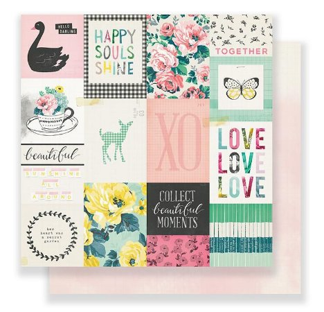 Papel Scrapbook 30x30 Dupla Face - Fresh - Bloom - Maggie Holmes - Crate Paper