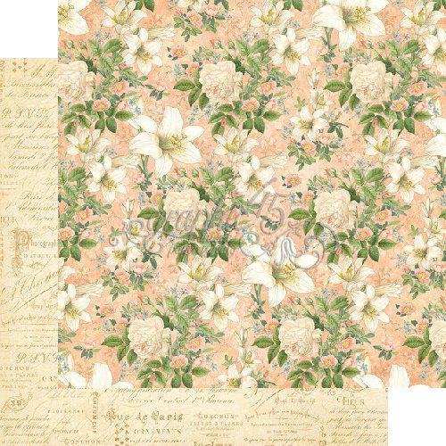 Papel Scrapbook 30x30 Dupla Face - Creme de la Creme - Gilded Lily Collection - Graphic 45